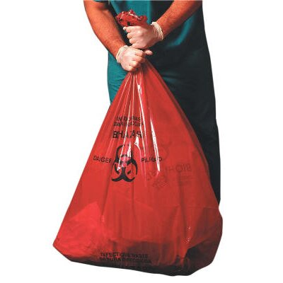 Jaguar Plastics® Health Care Low-Density Super Grade Liner 33-Gallon in Red