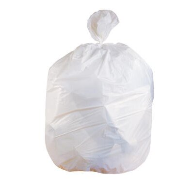 Jaguar Plastics® Low-Density Can Liner 33-Gallon, 0.90 Mil in White