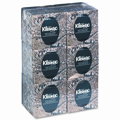 Kleenex KLEENEX Facial Tissue in Boutique Pop-Up Box, 95 per Box, Six Boxes per Pack