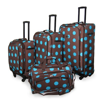 Ibiza Dots 4 Piece Luggage Set
