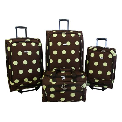 American Flyer Grande Dots 4 Piece Luggage Set