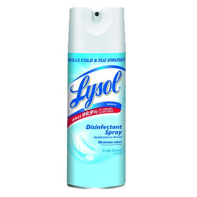 Lysol 12.5 oz. Aerosol Can Disinfectant Crisp Linen Scent Spray