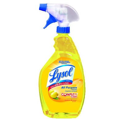 Lysol 1 Qt. Trigger Spray Bottle Lemon Scent All-Purpose Cleaner (12 bottles)
