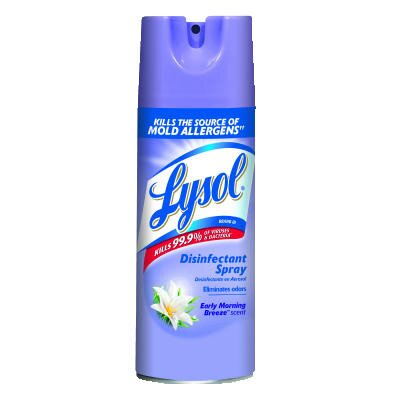 Lysol Early Morning Breeze Scent Liquid Disinfectant Spray (Set of 12)