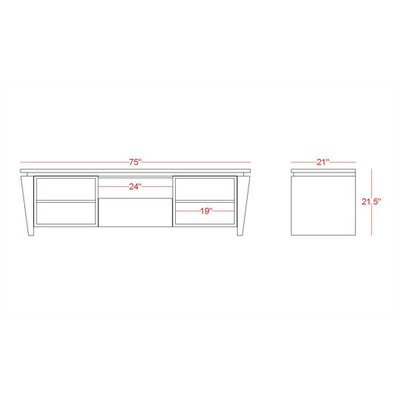 "Furnitech Modern 75"" TV Stand"