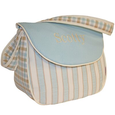Hoohobbers Spa Blue Messenger Diaper Bag
