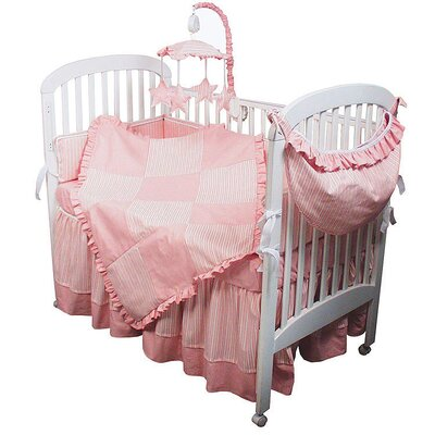 Hoohobbers Sherbert Pink Crib Bedding Collection