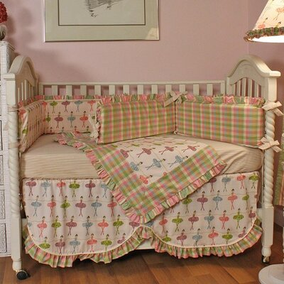 Hoohobbers Ballerina 4 Piece Crib Bedding Set