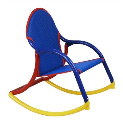 Personalized Rocking Chair in Blue Mesh