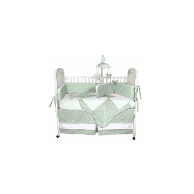 Hoohobbers Crib Bedding Collection in Green Swirl