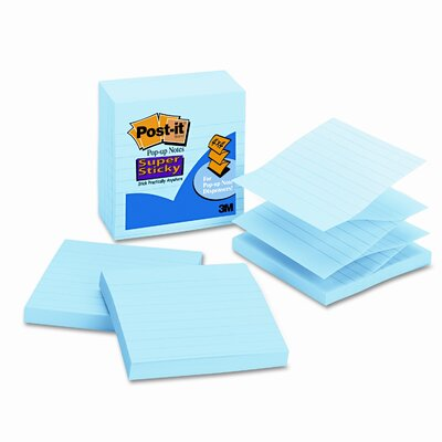 Post-it® Pop-Up Notes Super Sticky Pop-Up Refills, 4 X 4, Lined (Set of 15)