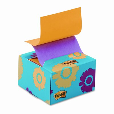 Post-it® Pop-Up Note Pad in A Desk Grip Decorative Box, 3 X 3