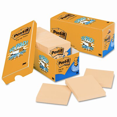 Post-it® Pop-Up Cabinet Pack Note Pad, 18 Pack