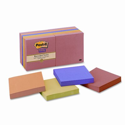 Post-it® Farmers Market Super Sticky Note Pad, 12 Pack