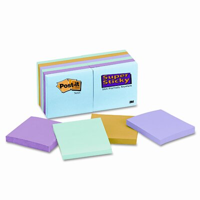 Post-it® Super Sticky Note Pad, 3x 3, 12 90-Sheet Pads/Pack