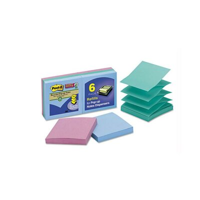 Post-it® Pop-Up Super Sticky Note Pad, (Set of 6)