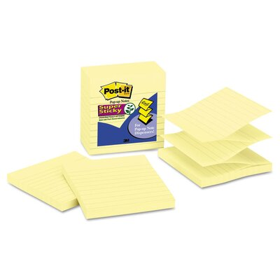 Post-it® Pop-Up Notes Super Sticky Lined Refill Pad (Set of 5)