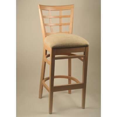 "Alston 24"" Lattice Back Counter Stool"