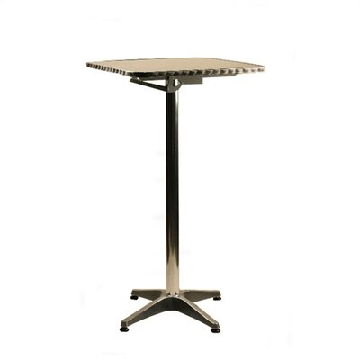"Alston 24"" Square Top Aluminum Table - Bar Height"