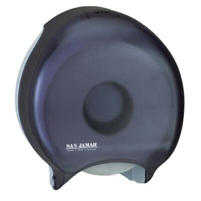 San Jamar Single Jumbo Toilet Tissue Dispenser in Black Pearl