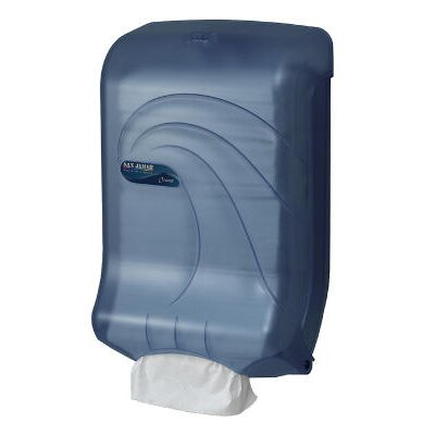 San Jamar Large Capacity Ultrafold Multi /C-Fold Towel Dispenser in Blue