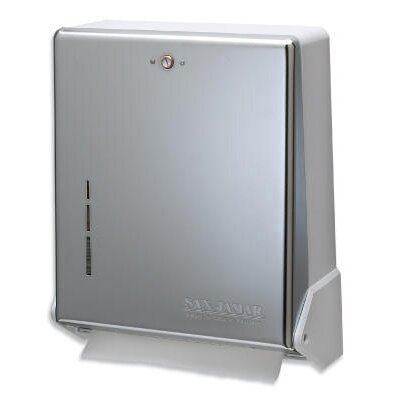 True Fold Metal Front Cabinet Towel Dispenser in Chrome