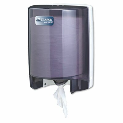 San Jamar Classic Center Pull Towel Dispenser, 9-1/8w x 9-1/2d x 11-5/8h, Black Pearl/Whit