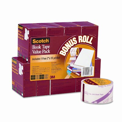 Scotch® Book Repair Tape, 8 Rolls