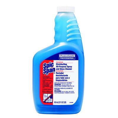 SPIC & SPAN Disinfecting All-Purpose Spray and Glass Cleaner Concentrate Liquid Bottle
