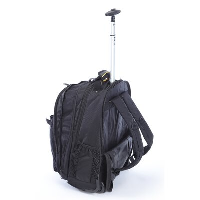 "A.Saks Expandable 19"" Rolling Trolley Laptop Backpack"
