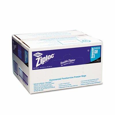 Ziploc® Commercial Resealable Freezer Bag, Zipper, 2 gal, 13 x 15-1/2, Clear, 100/Carton