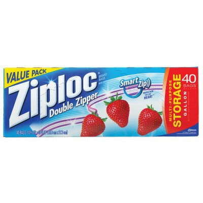 Ziploc® Double Zipper Storage Bags in Clear