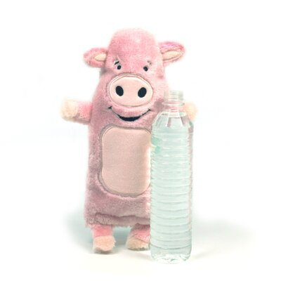 Kyjen Plush Puppies Water Bottle Buddies Pig Dog Toy