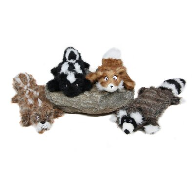 Kyjen Plush Puppies Squeaker Real Animal Fox Dog Toy