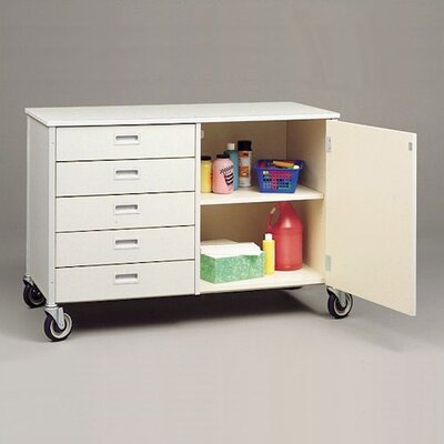 Fleetwood Five Drawer Storage Cabinet with Shelf