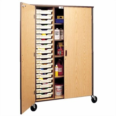 "Fleetwood 72"" H Storage Cabinet with Shelving and Optional Trays"