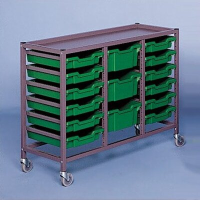 "Fleetwood Triple Column Mobile 33.5"" Storage Cart"