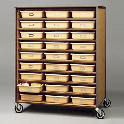 "Fleetwood 60"" H Double Sided Storage Cart with Optional Trays"