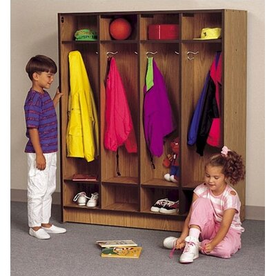"Fleetwood 60"" H Double Sided Student Locker Unit"