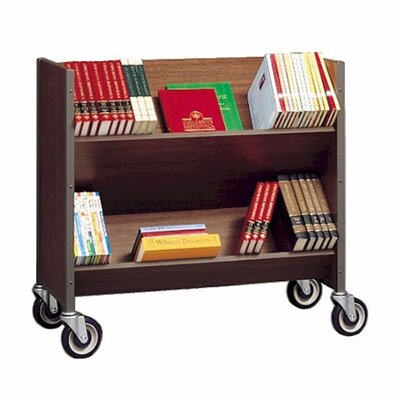 Fleetwood Double Sided Book Truck with 3 Shelves