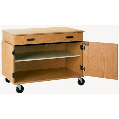 Fleetwood Encore Rolling Cabinet with Drawer and 2 Shelves
