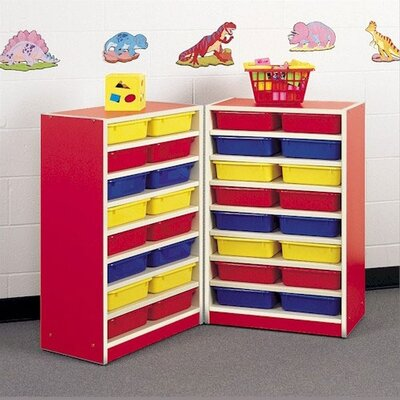 Fleetwood Koala-Tee 32 Compartment Mobile Folding Storage Unit with Optional Trays