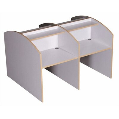 Fleetwood Double Sided Privacy Study Carrel Desk Starter