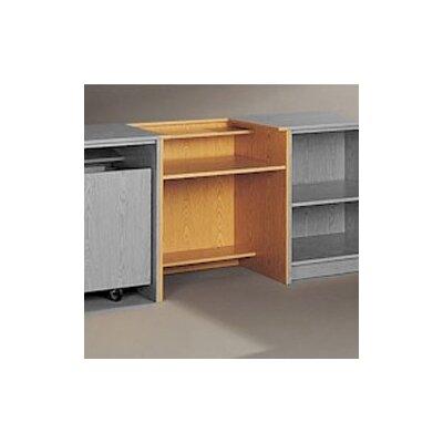 Fleetwood Library Modular Front Desk System - Standard Computer Station