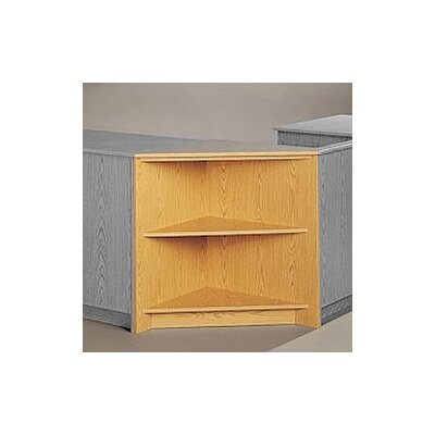 Fleetwood Library Modular Front Desk System - Corner Display Unit