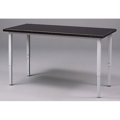 Fleetwood Adjustable Height Steel Frame Science Table with Black HPL Top
