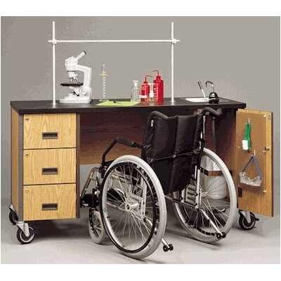 Wheelchair Accessible Deluxe Mobile Science Lab Station with Sink and Storage Compartments