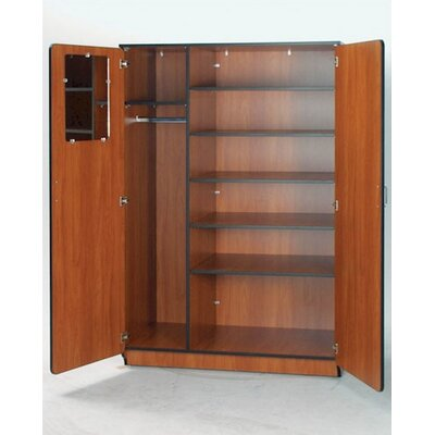 "Fleetwood Illusions 84"" H Teacher Wardrobe with Six Adjustable Shelves"