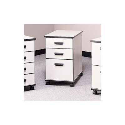 Fleetwood Solutions Three-Drawer Mobile File Cabinet - Box/Box/File