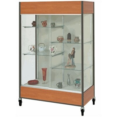Fleetwood Mobile Trophy and Art Display Case with Half Width Shelves